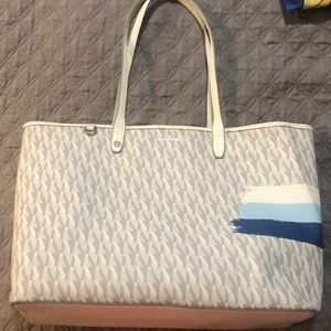 Sam Edelman Large White and Blue tote